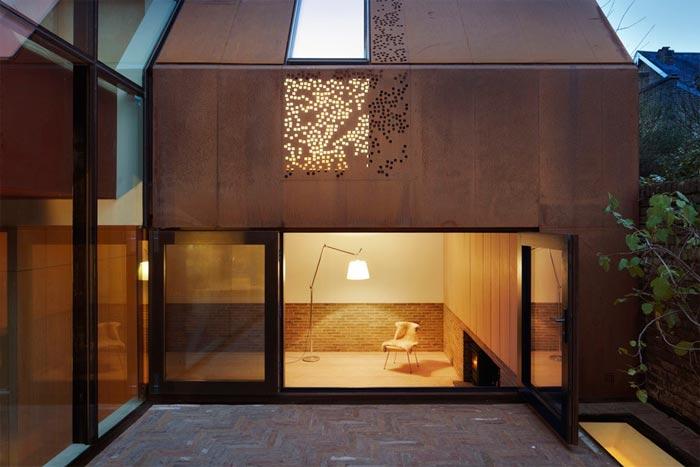民宿旅社耐候钢板房-耐候钢板生产厂家
